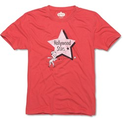 Red Jacket - Mens Hollywood Stars Brass Tacks 100% Cotton T-Shirt