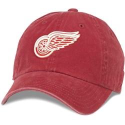 American Needle - Mens Det Red Wings New Raglin 100% Cotton Snapback Hat