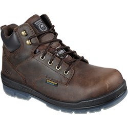 Skechers - Mens Lace Up Boot W/ Safety Toe Shoe