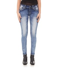Rock Revival - Womens Mars Red S203 Skinny Jeans