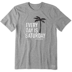 Life Is Good - Mens Every Day Is Saturday Crusher T-Shirt