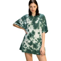 Hyfve - Womens Tie Dye Distressed Oversized T-Shirt