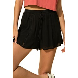 Hyfve - Womens Solid With Front Lace Detail And Drawstring Waist Shorts