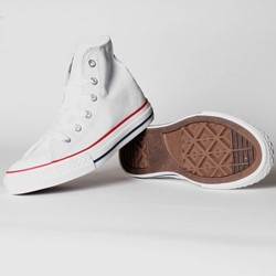 Converse Toddler/Youth Allstar Hi Chuck Taylor Shoes in Optical White