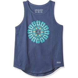 Life Is Good - Womens High-Low Crush Flip Flop Mandala T-Shirt