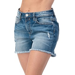 Sailey - Womens Simple Stitch Pocket High Rise Short Jeans