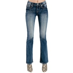 Miss Me - Womens M3813B Mid-Rise Boot Jeans