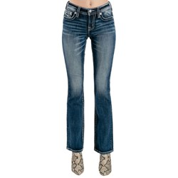 Miss Me - Womens M3819B Mid-Rise Boot Jeans