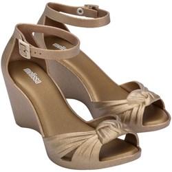 Melissa - Womens Velvet Wedge Sandals