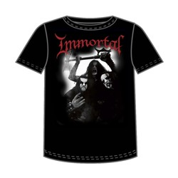 Immortal - Band Photo Mens T-Shirt In Black