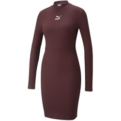 Puma - Womens Classics Ribbed Long Sleeve Dress