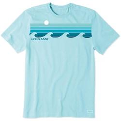 Life Is Good - Mens Crusher Retro Wave Stripe T-Shirt