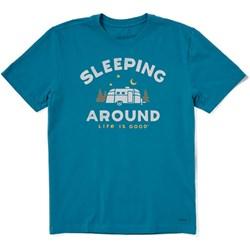 Life Is Good - Mens Crusher-Lite Sleeping Around T-Shirt