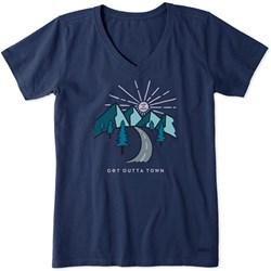 Life Is Good - Womens Short Sleeve Crusher-Lit Get Outta Town T-Shirt