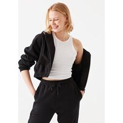 Mavi - Womens Regular Fit Cropped Zipup Hoodie