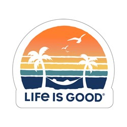 Life Is Good - Decal Paradise Sunset Die Cut Stickers