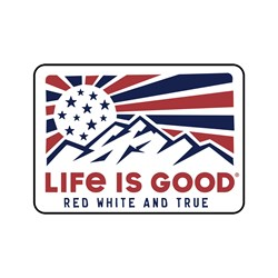 Life Is Good - Decal Red White And Tru Die Cut Stickers