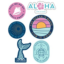 Life Is Good - Six-Pack Stick Beach Pack Stickers