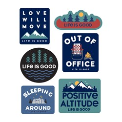 Life Is Good - Six-Pack Stick Camp Pack Stickers