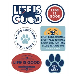 Life Is Good - Six-Pack Stick Dog Pack Stickers
