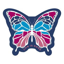 Life Is Good - Small Die Cut Butterfly Die Cut Stickers