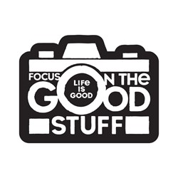 Life Is Good - Small Die Cut Focus On The Good Die Cut Stickers