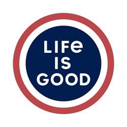 Life Is Good - Small Die Cut Lig Coin Die Cut Stickers