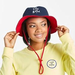 Life Is Good - Unisex Bucket Lig Vintage Wordm Hat