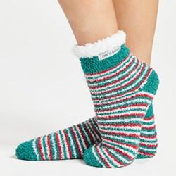 Life Is Good - Unisex New Snuggle Sl Holiday Stripe Assortment Socks