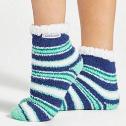 Life Is Good - Unisex New Snuggle Sl Snowflake Slipper Assortment Socks
