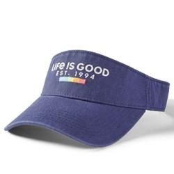Life Is Good - Unisex Updated Visor Rainbow Blocks Hat