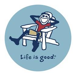 "Life Is Good - Adirondack Jake Vintage 4"""" Circle Graphic Stickers"