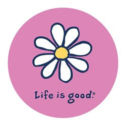 """Life Is Good - Daisy Vintage 4"""""""" Circle Graphic Stickers"""