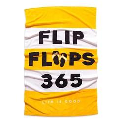 Life Is Good - Flip Flops 365 Beach Towel
