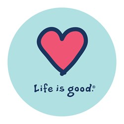 """Life Is Good - Heart Vintage 4"""""""" Circle Graphic Stickers"""