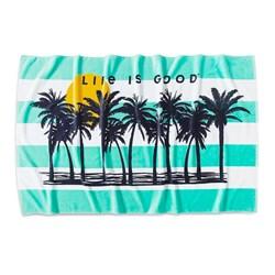 Life Is Good - Life Is Good Palm Trees Beach Towel