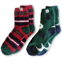 Life Is Good - Unisex Snuggle 2 Pack Stars Trees / Stripes Snuggle Socks
