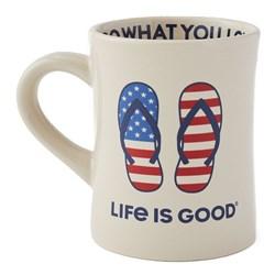 Life Is Good - Americana Flip Fl Diner Coffee Mug