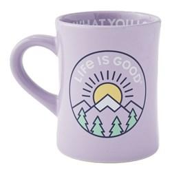 Life Is Good - Lig Mountain Sunr Diner Coffee Mug