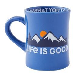 Life Is Good - Lig Mountains Diner Coffee Mug