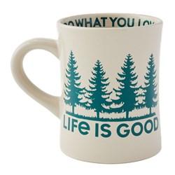 Life Is Good - Lig Trees Diner Coffee Mug