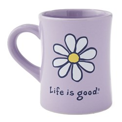 Life Is Good - Vintage Daisy Diner Coffee Mug