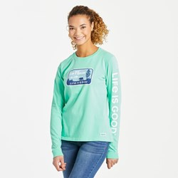 Life Is Good - Womens Long Sleeve Crusher-Lit Go Places Nationa T-Shirt