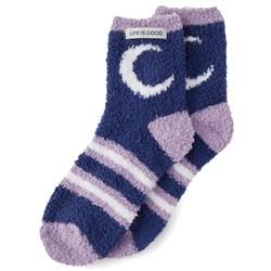 Life Is Good - Womens Snuggle Night Sky Snuggle Socks