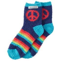 Life Is Good - Womens Snuggle Peace Snuggle Socks