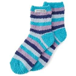 Life Is Good - Womens Snuggle Sleep Stripe Snuggle Socks
