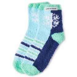 Life Is Good - Womens Snuggle Snowflake Snuggle Socks