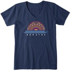 Life Is Good - Womens Short Sleeve Crusher Vee Sundala T-Shirt