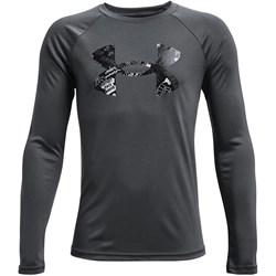 Under Armour - Boys Tech Logo Fill Long-Sleeve T-Shirt