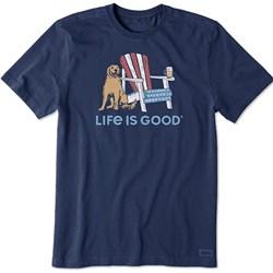 Life Is Good - Mens Crusher American Adironda T-Shirt